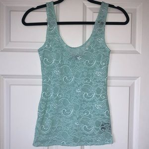 Stretchy Turquoise Talula Lace Top XXS